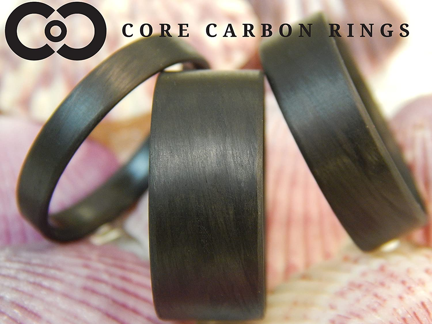 Carbon Fiber Unidirectional Black Ring-Matte Finish or High Gloss Finish