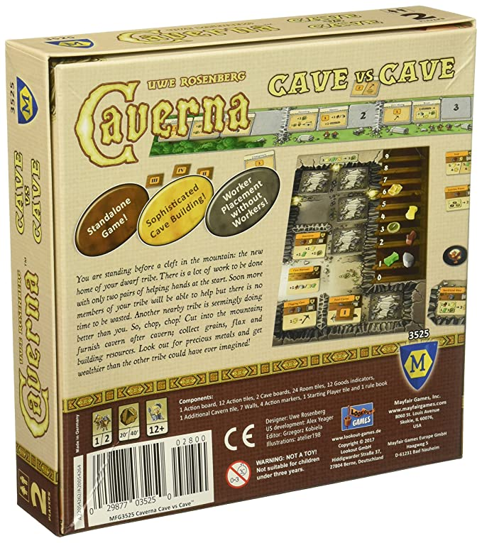 Mayfair Games Europe GmbH mfg03525 caverna vs Cueva Junta Juego ...
