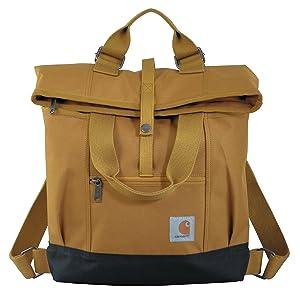 Carhartt Legacy Women's Hybrid Convertible Backpack Tote Bag, Carhartt Brown