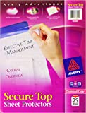 Avery Secure Top Sheet Protectors, Heavy Gauge, Letter Size, Diamond Clear, 25 per Pack (76000)