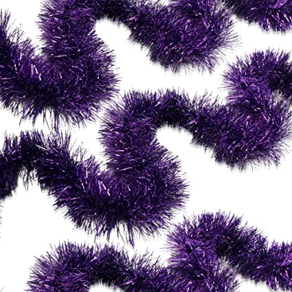 treasures gifted christmas decorations purple tinsel garland mardi grad parade float decorations centerpieces for winter wonderland