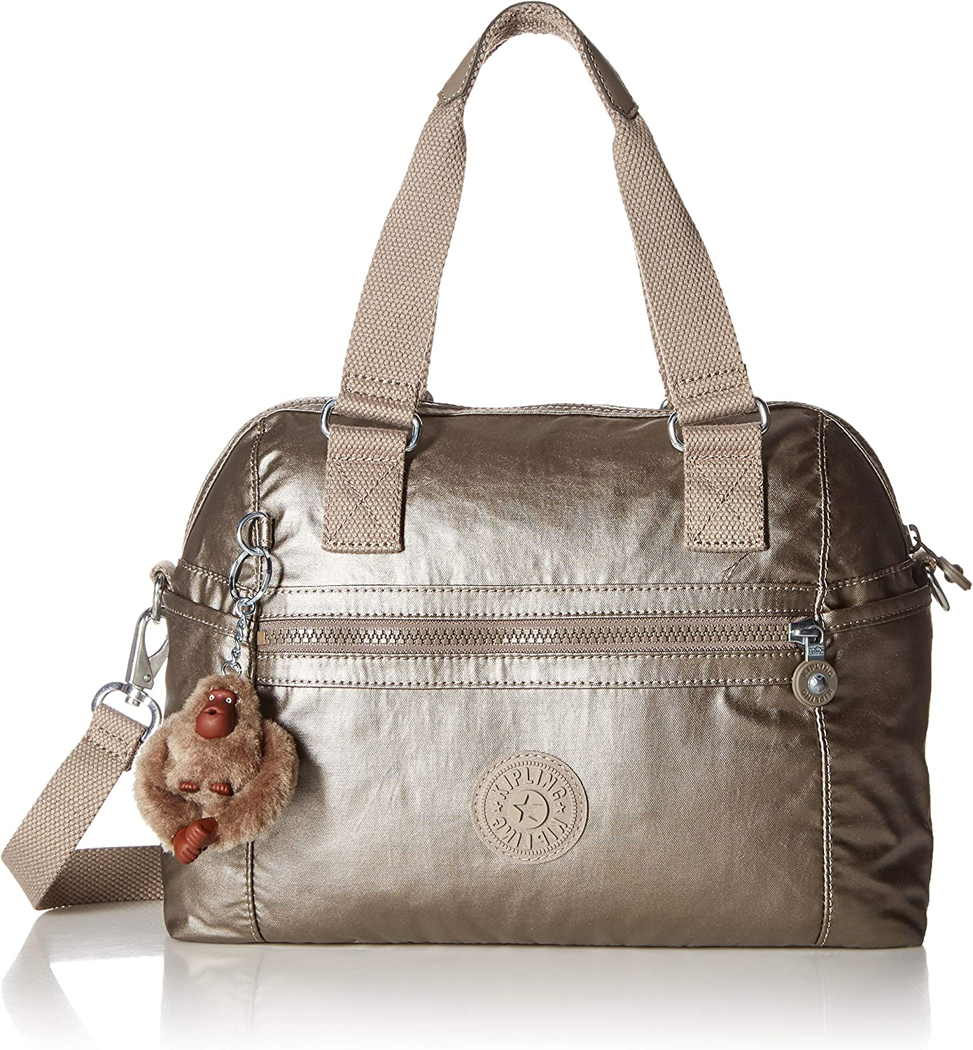 Kipling Cora Handbag, Metallic Pewter, One Size: Handbags