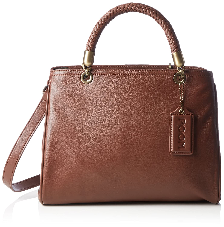 POON Women's Lederhand- / Schultertasche Top-Handle Bag
