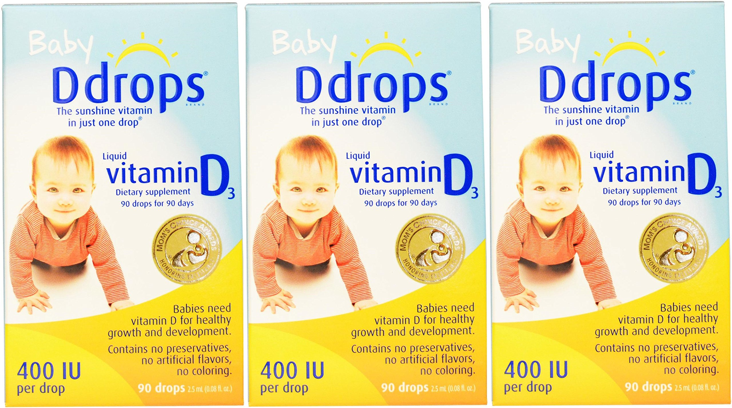 Baby Ddrops 400 IU 90 Drops (Pack of 3)