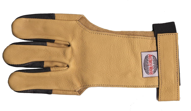 Archery Traditional Soft Skin Finger Glove - Large