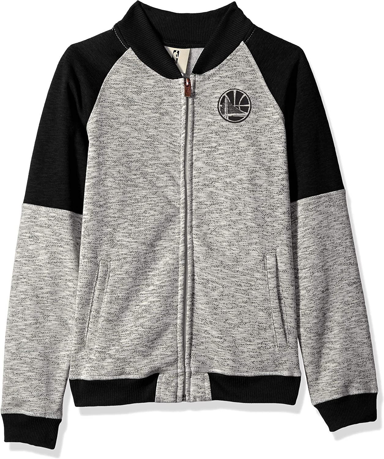 NBA by Outerstuff NBA Youth Boys Golden State Warriors Game Changer Full Zip Jacket Heather Grey Youth Medium 10-12