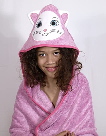 Amazon.com : Premium Toddler to Kids Hooded Beach and Bath Towel | Organic Bamboo | Large 35.4 by 35.4 inch | Kitty Hood Design | Baby Girl Gift : Baby