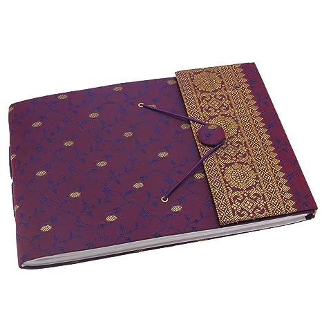 Fair Trade Kleinen gepr/ägten Notizbuches 75 X 95 mm schokoladenbraun