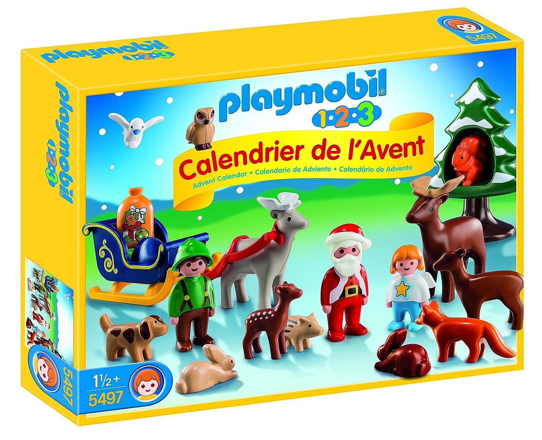 Playmobil 1.2.3 - 5497 - Calendrier De L'avent - 1.2.3 Père Noël Et Les Animaux De La Forêt Calendrier de l'Avent
