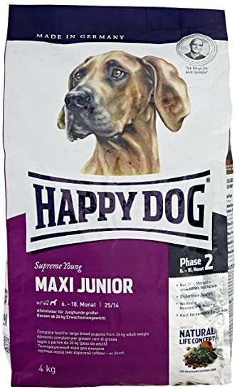 Happy Dog Dry Puppy Food Maxi Junior 4 Kg Amazon Co Uk Pet Supplies