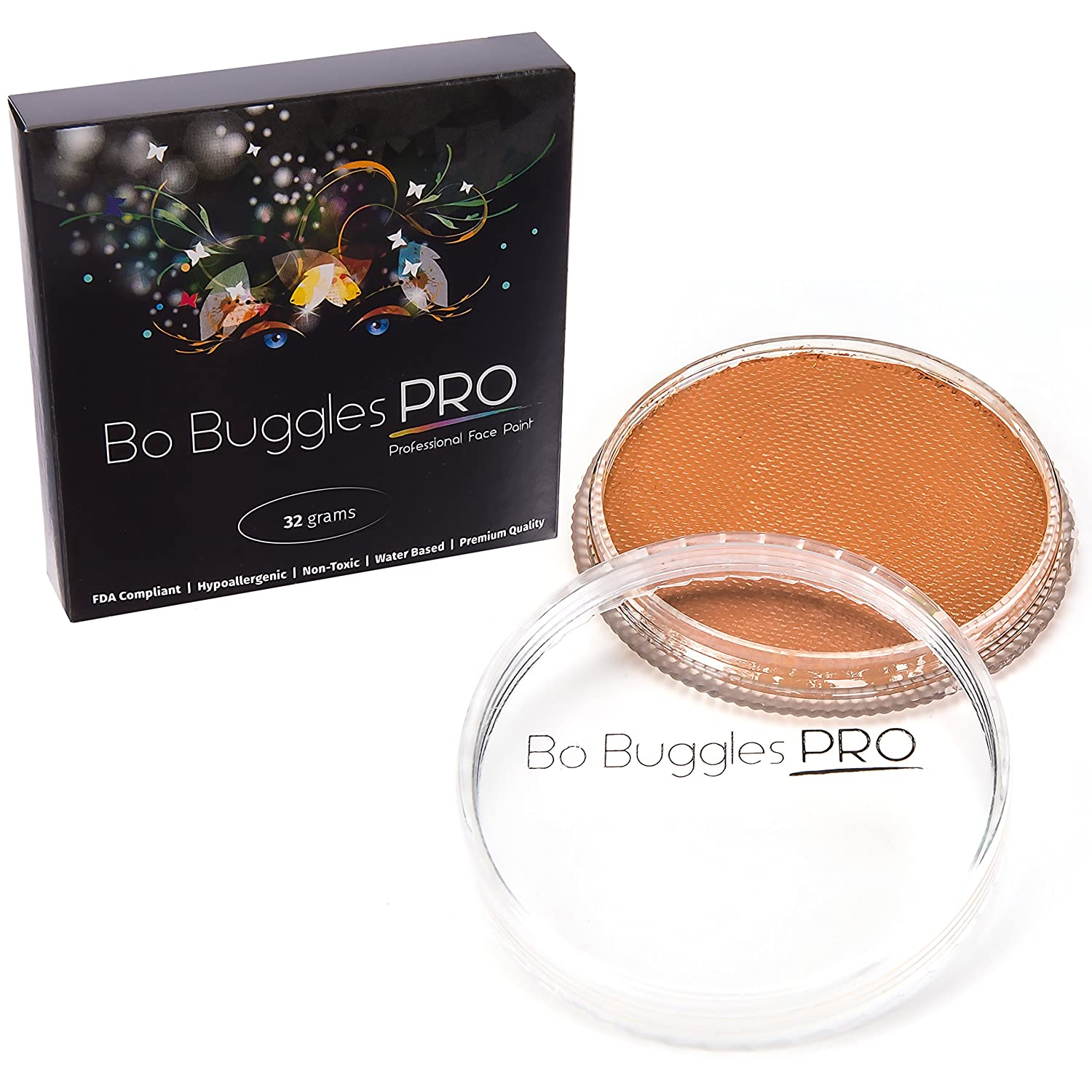 Face Paint 32 Grams White | Classic Colors by Bo Buggles Professional | Water Activated Portal R&M