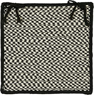 product image for Colonial Mills OT49 Pattern-Made Outdoor Houndstooth Tweed Chair Pad, 15 by 15-Inch, Black, 4-Pack