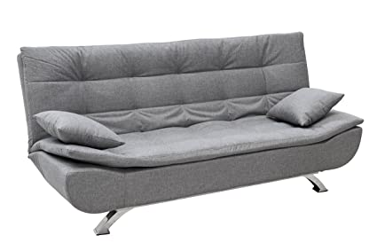 Eglemtek divano letto clic clac posti in tessuto con cuscini