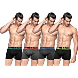 Lux Cozi GLO Men's Front Open Cotton Drawers (Pack of 4)