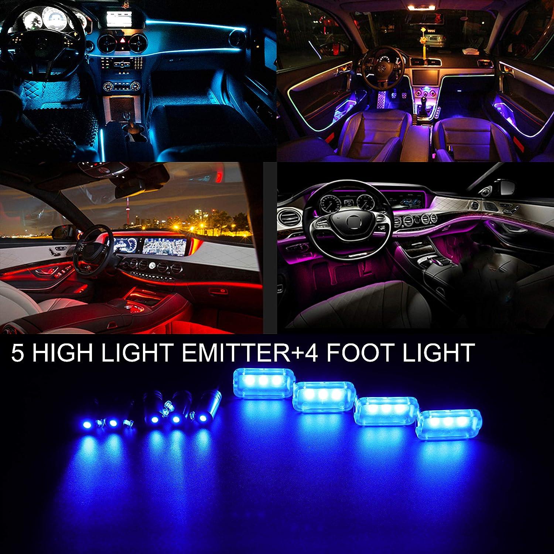 TABEN Neonleuchtleisten f/ür das Auto mit 8 Farben zur Autodekoration DC12V 1 Set Innenraumbeleuchtung wasserdicht 4-teiliges Set Stimmungslicht