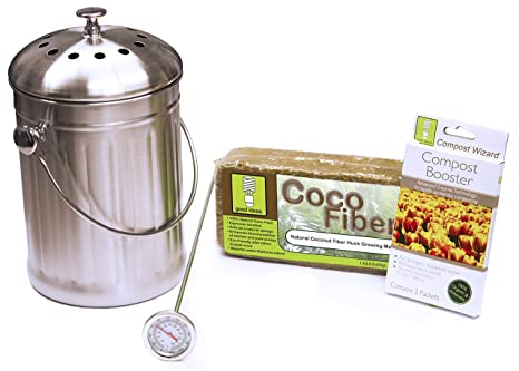 Good Ideas cw-sta3qt-sst inoxidable asistente de Compost cubo para Essentials Kit