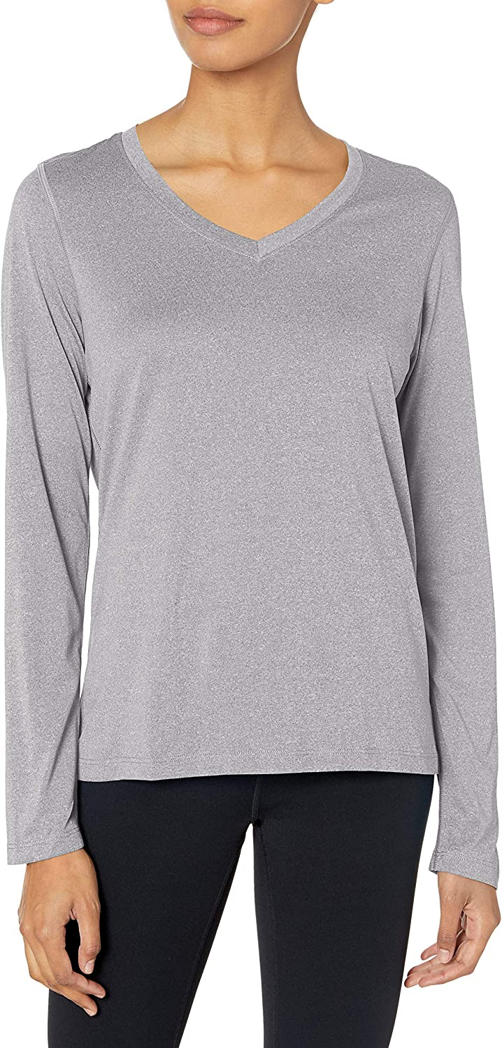 Hanes Sport Women's Cool DRI Performance Long Sleeve V-Neck Tee at  Women's Clothing store
