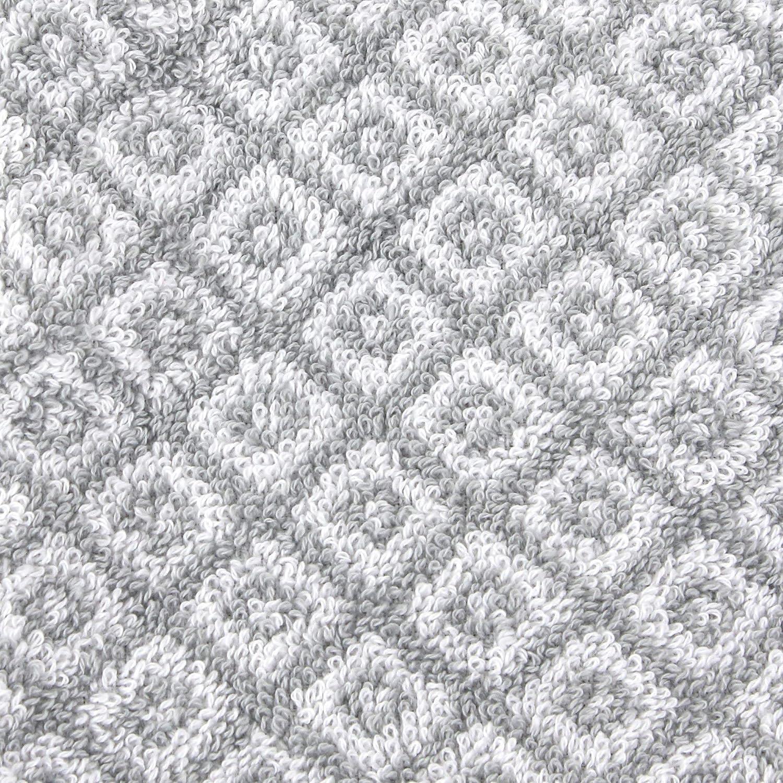 Linnea Gant de Toilette 16x21 cm Shibori Mosaic Gris 500 g//m2