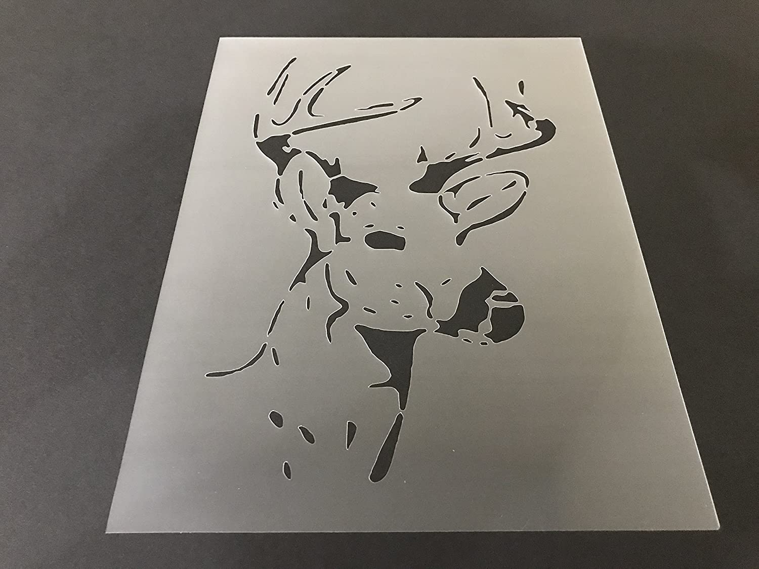 Deer Stencil #2 Reusable 10 mil Thick 7in x 9in sheet
