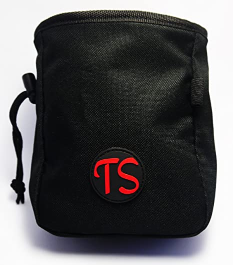 ThisSak Bolsa de magnesio negra con cinto ajustable a la cintura – perfecta para escalada