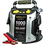 STANLEY J5C09 JUMPiT Portable Power Station Jump Starter: 1000 Peak/500 Instant Amps, 120 PSI Air Compressor, USB Port…