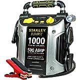 STANLEY J5C09 JUMPiT Portable Power Station Jump Starter: 1000 Peak/500 Instant Amps, 120 PSI Air Compressor, USB Port, Batte