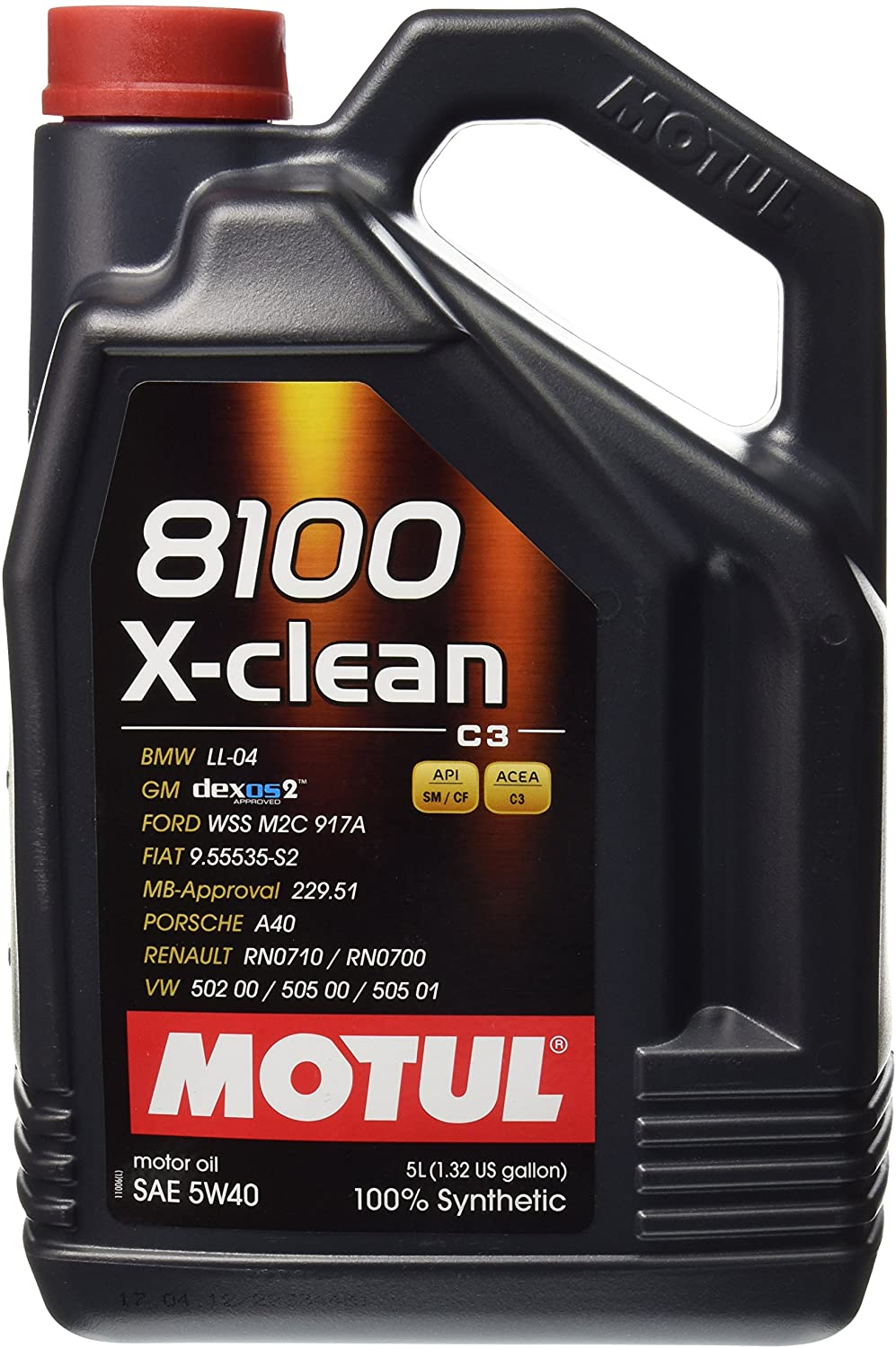 Motul 2051 8100 X Clean 5w 40 Synthetic Engine Oil 5 Liter By Auto