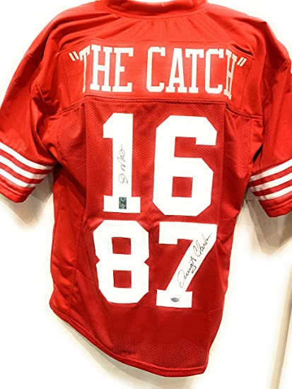 705d1e2115e Image Unavailable. Image not available for. Color  Joe Montana Dwight Clark  San Fransico 49ers Dual Signed Autograph Custom Jersey 49ers THE CATCH GTSM