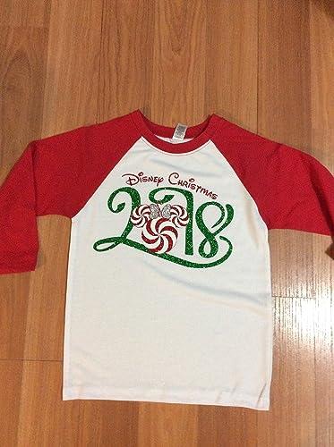 handmade disney christmas raglan shirtfamily matching shirtsmickeys not so scary halloween party - Disney Christmas Shirts