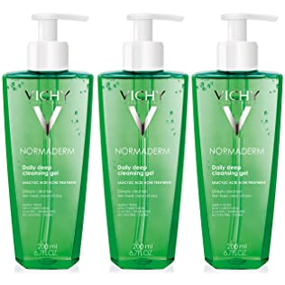 Vichy Normadern Deep Cleansing Gel Face Wash for Oily Skin and Acne