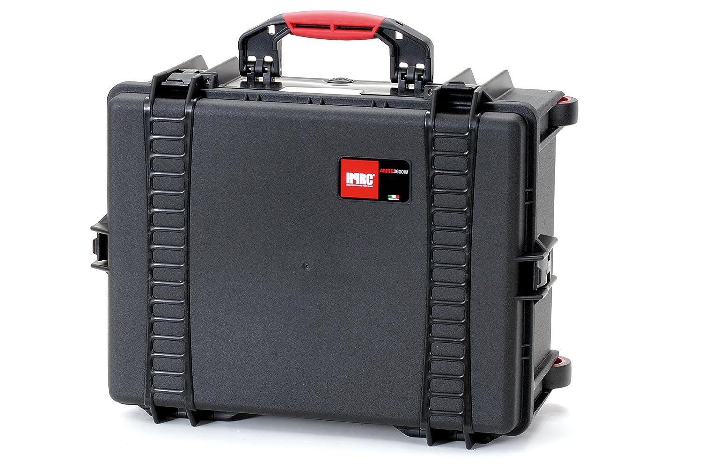 HPRC 2600WIC Hardcase mit Rollen (TX01 Material, 38 Liter Volumen, mit Interior Case) schwarz