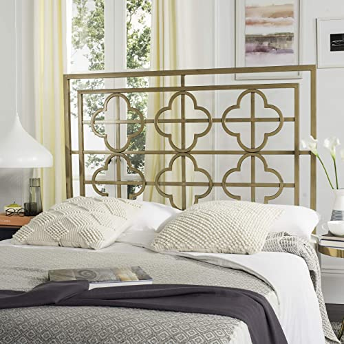 Safavieh Lucinda Headboard, Queen, Antique Gold