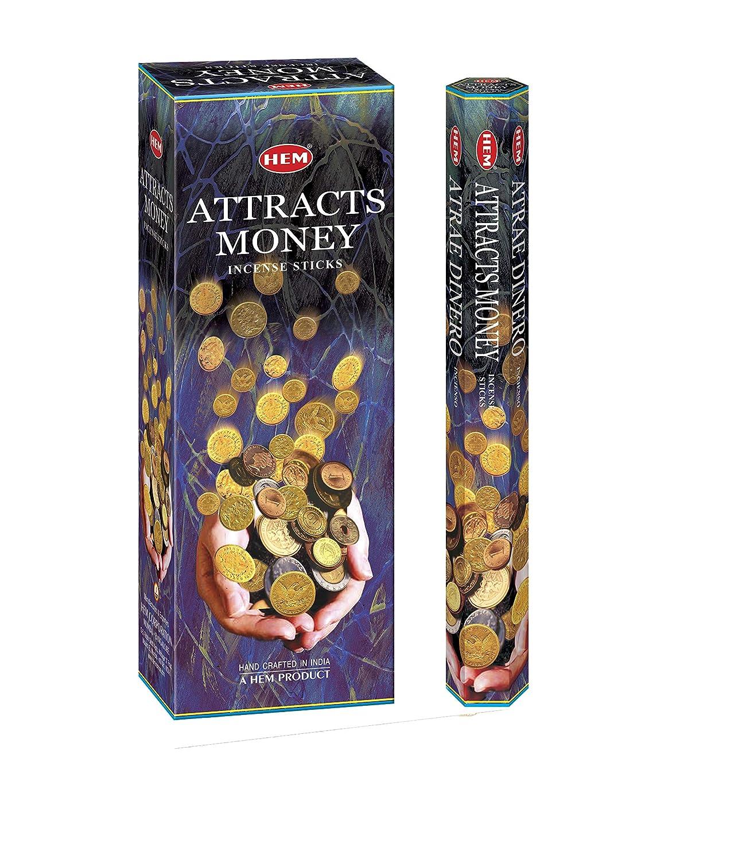 Attracts Money - Box of Six 20 Gram Tubes - HEM Incense