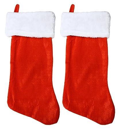set of 2 black duck brand 19 red velvet stocking 2 pack w - Red Velvet Christmas Stockings