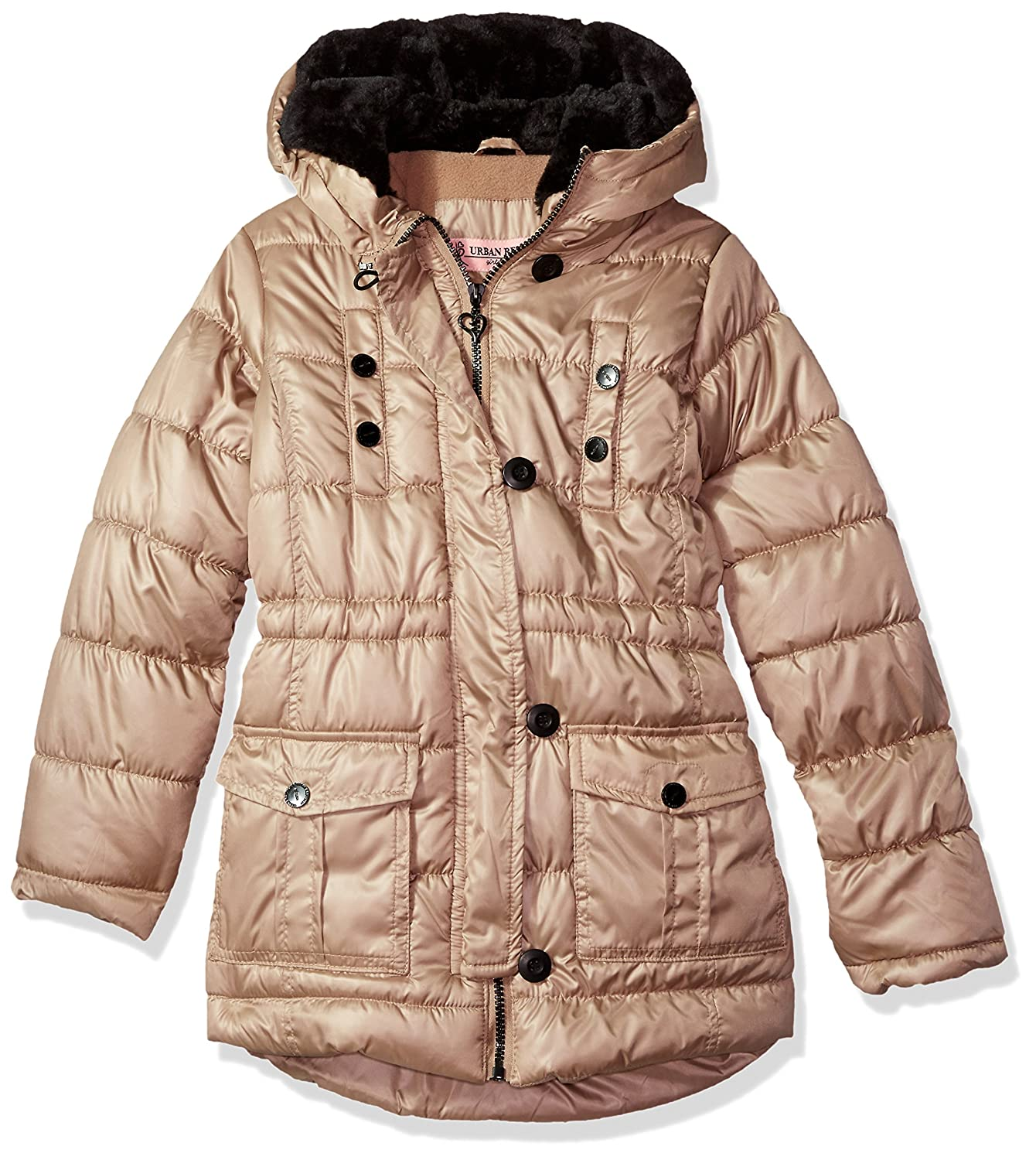 Urban Republic Girls' Toddler Long Puffer Jacket, Bubgumpink, 2T 5667TBP-125