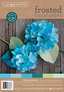 Lia Griffith Frosted Tissue Paper PLG20077, 66.6 Total Square Feet, Fresh Breeze, 24 Count