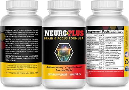 Brain Enhancement and Memory Booster- Enhance Focus and Clarity – Boost Concentration and Memory – Reduce Mental Fatigue – Mind Enhancement Pills to Boost IQ and Neuro Energy