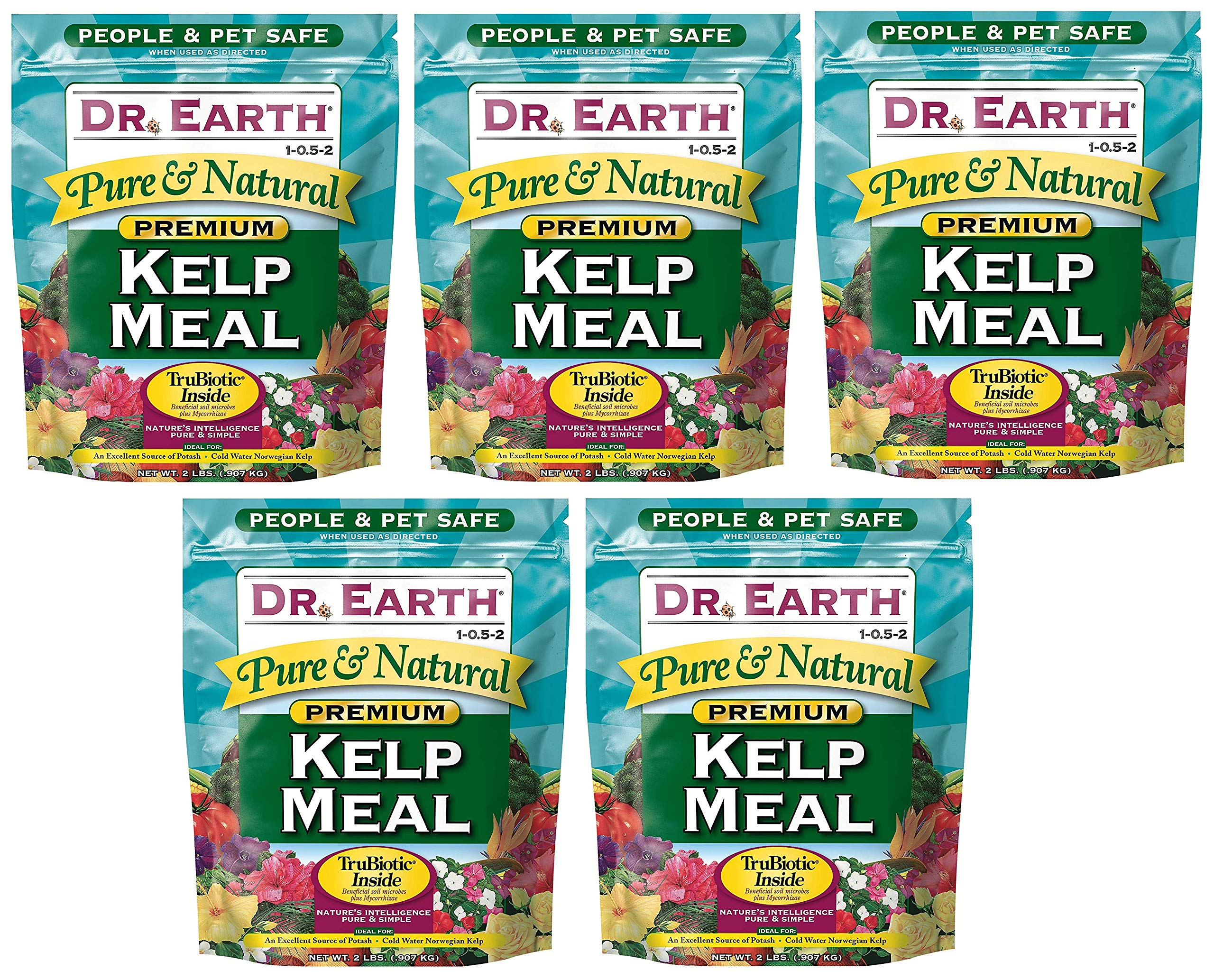 Dr. Earth 725 Kelp Meal 1-0. 5-2 2.5 Boxed, 2-Pound (Вundlе оf Fіvе)
