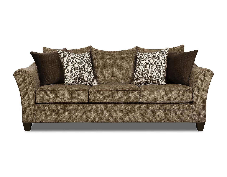 Simmons Upholstery 6485 03 Albany Truffle Sofa