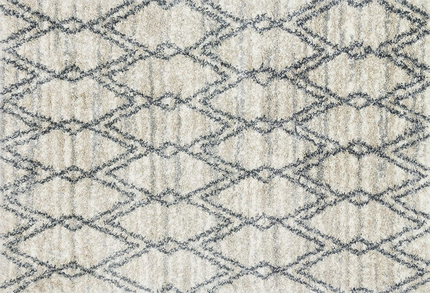 Loloi (LOLAH) QNCYQC-04SAGT Quincy QC-04 Indoor Area Rugs 2'-3' x 12' Sand/Graphite