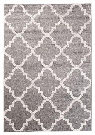 Designer Teppich Für Ihre Wohnzimmer Schlafzimmer Esszimmer   Hell Grau Weiß    200 X 290 Cm