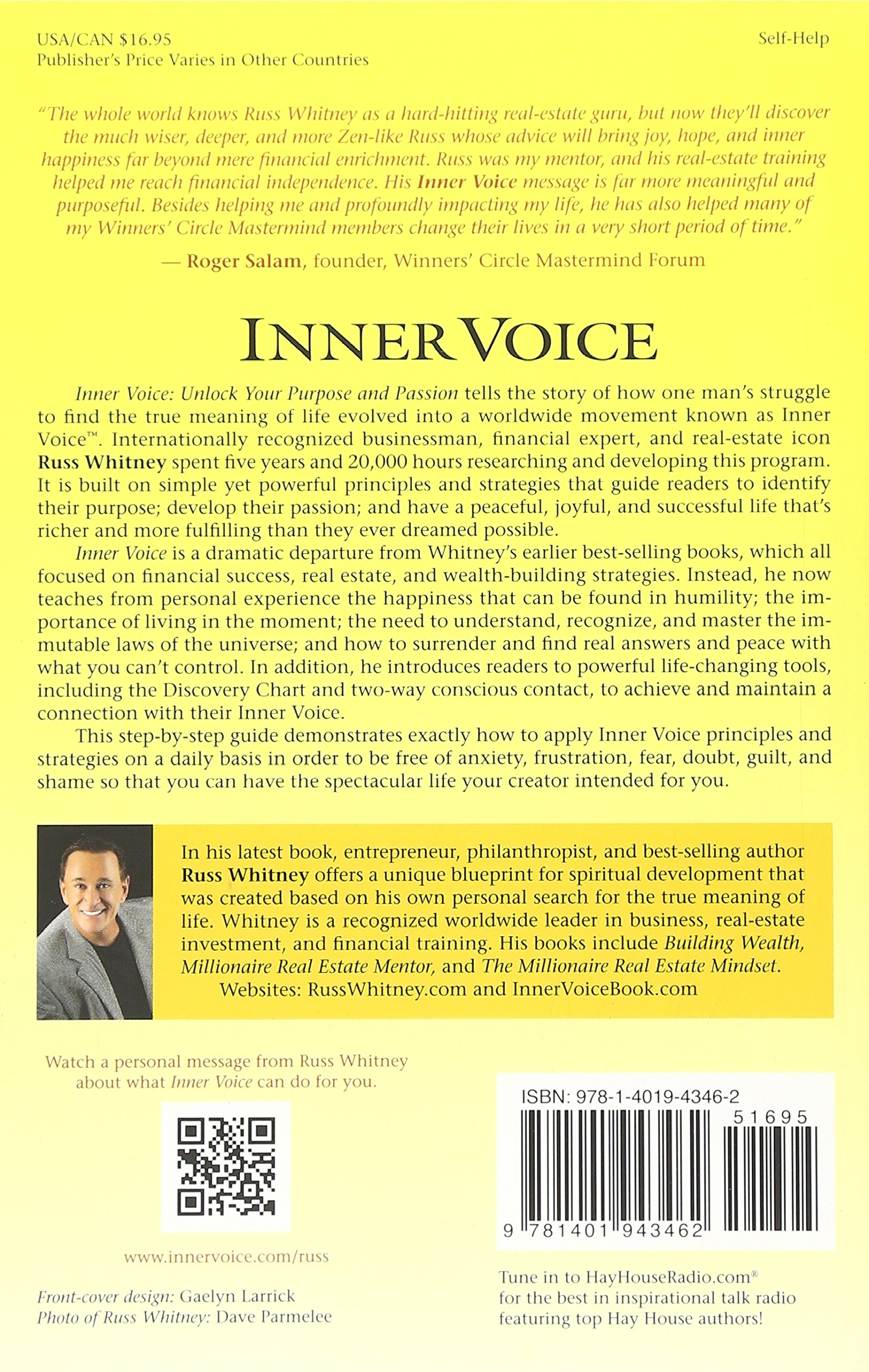 Inner voice unlock your purpose and passion russ whitney inner voice unlock your purpose and passion russ whitney 9781401943462 amazon books malvernweather Gallery