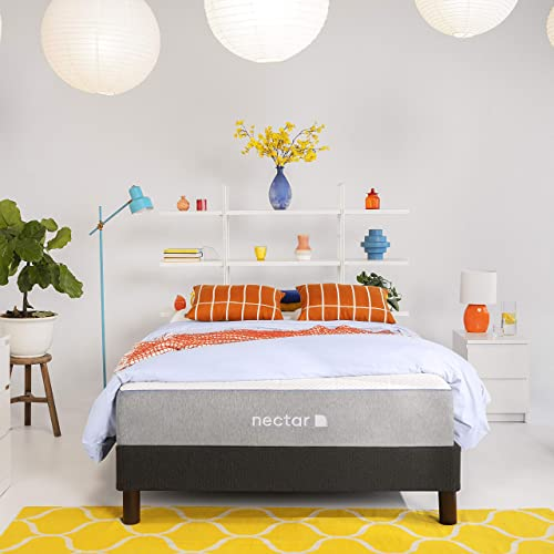 Nectar Full Mattress + 2 Pillows Included - Gel Memory Foam - CertiPUR-US Certified Foams - Forever Warranty