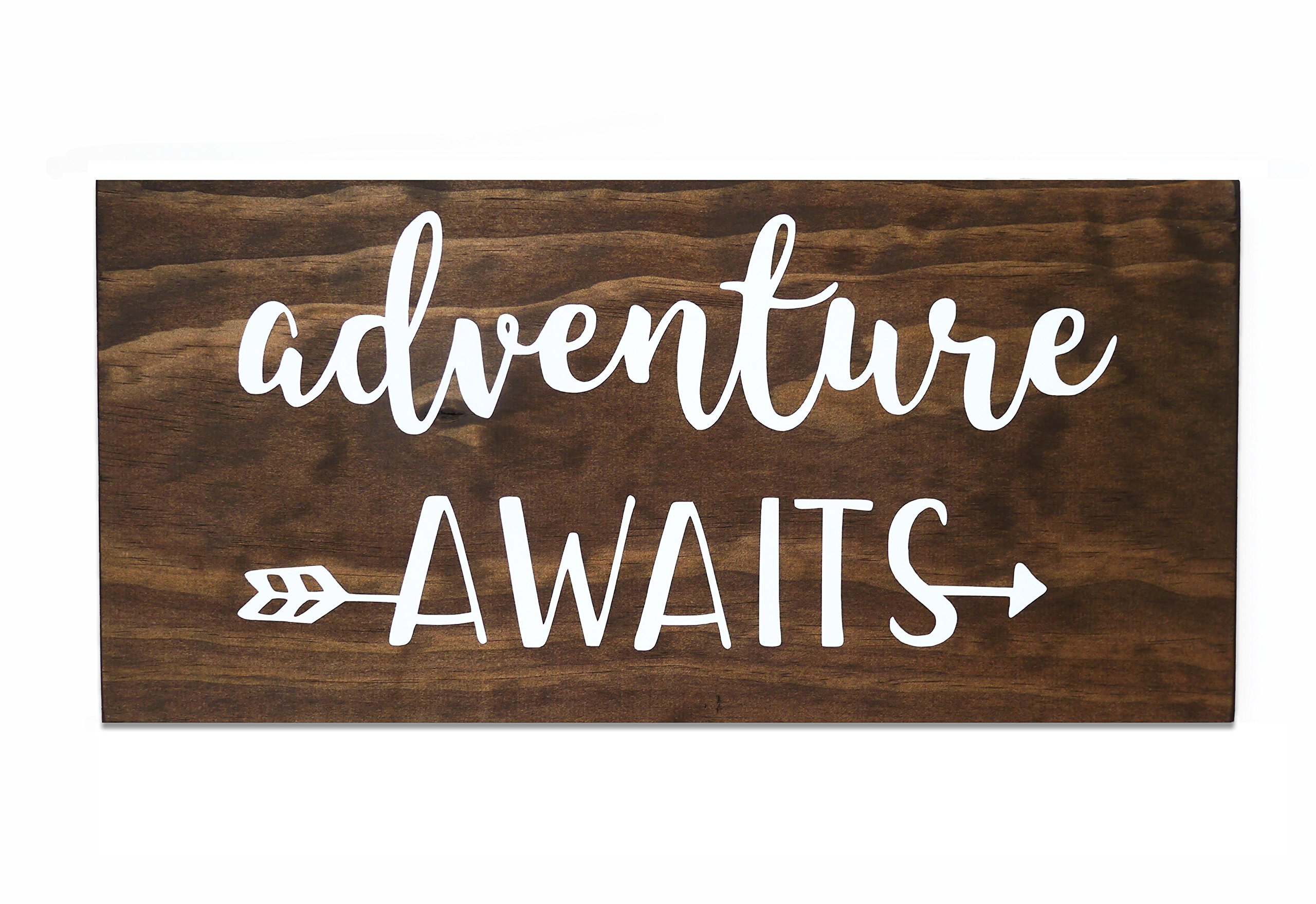 Adventure Awaits Sign, 15 in.