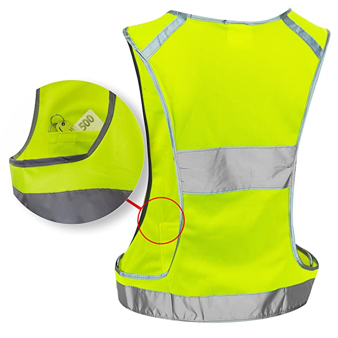 Objective Yellow Reflective Vest Reflective Jacket High Visibility Knitted Reflective Safety Vest Logo Printing Vest Safety On Road Firm In Structure Workplace Safety Supplies