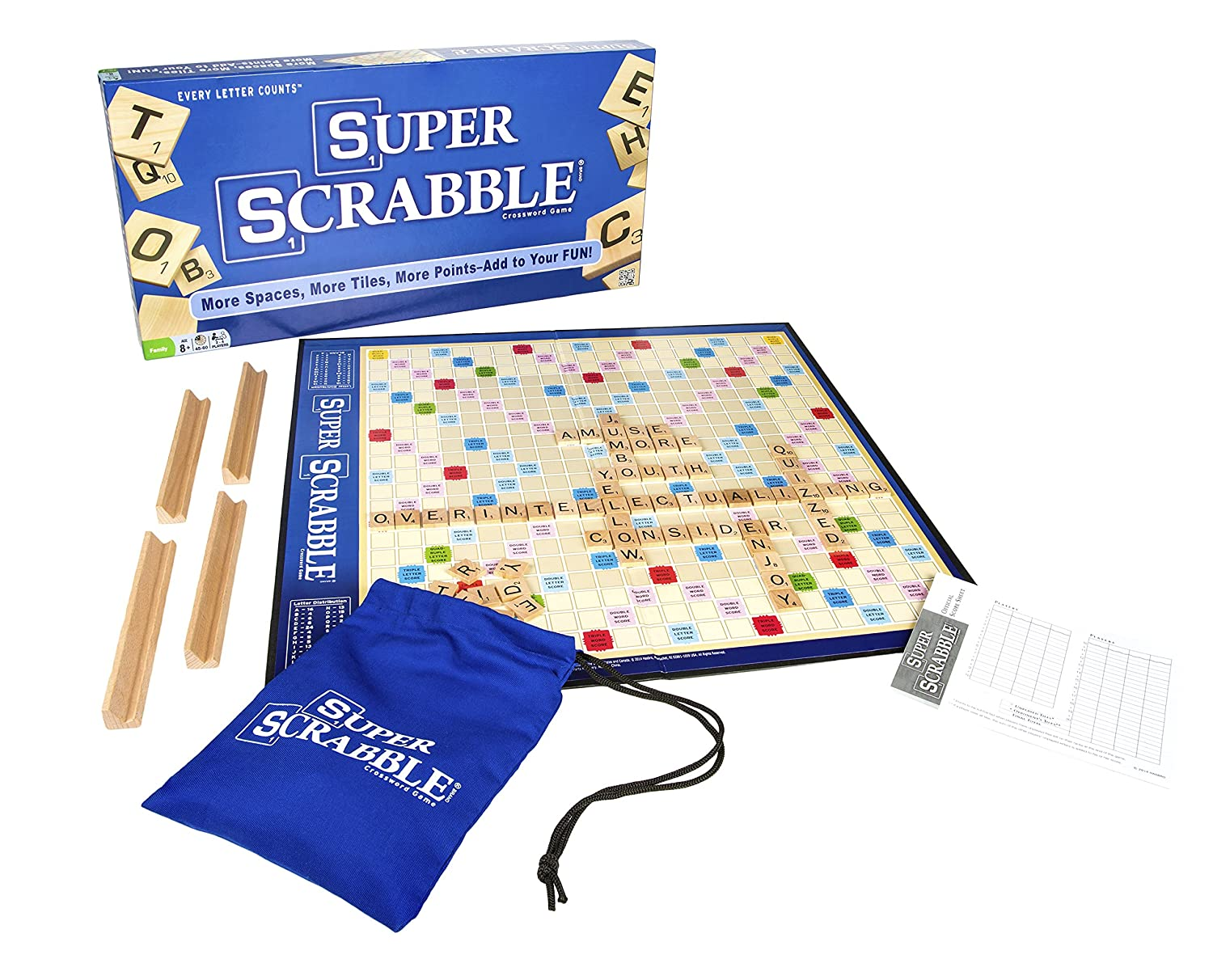 Hasbro Super Scrabble The Super Sized Version Of The Greatest Word