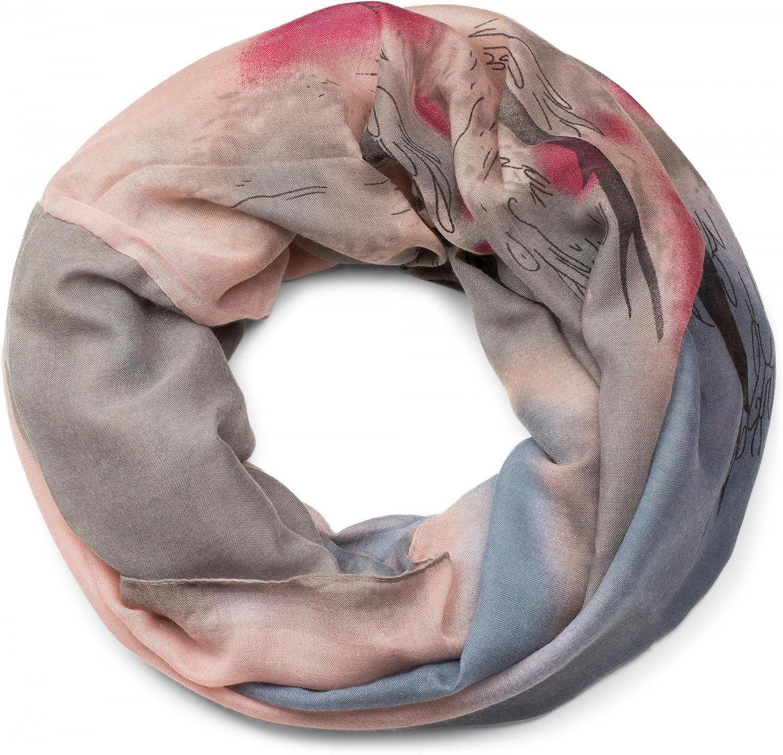 sciarpa foulard da donna 01017036 batik gradiente di colore puntini e trattini styleBREAKER sciarpa tubolare scaldacollo con motivo a macchie