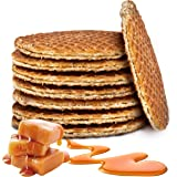 Double Dutch Stroopwafels Traditional Holland Syrup Waffle Cookies Wafer Snack Non-GMO (Caramel, 8 Piece)