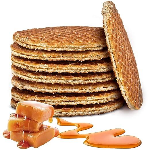 Doble holandés Stroopwafels tradicional Holland Syrup Waffle ...