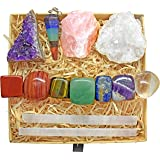 Crystals and Healing Stones Kit with 13 pcs. Healing Crystals, Gemstones and Crystals for Beginners Including Chakra…